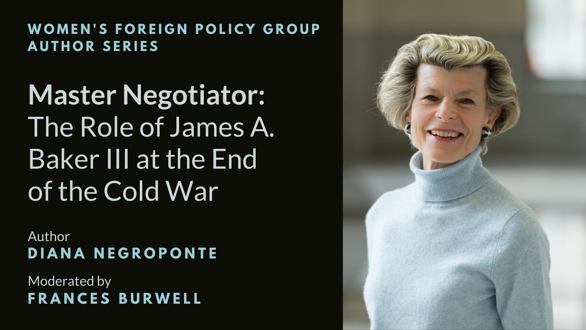 Negroponte Master Negotiator