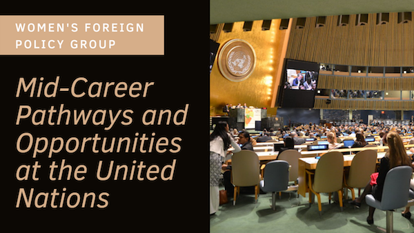 Mid-Career Pathways and Opportunities at the United Nations