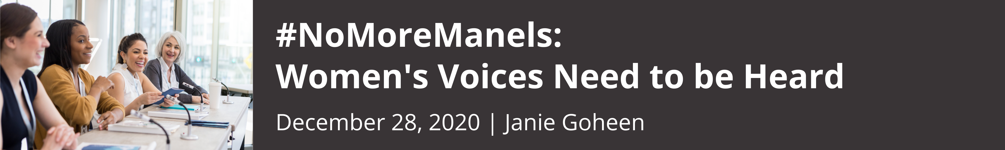 #NoMoreManels: Women's Voices Need to be Heard