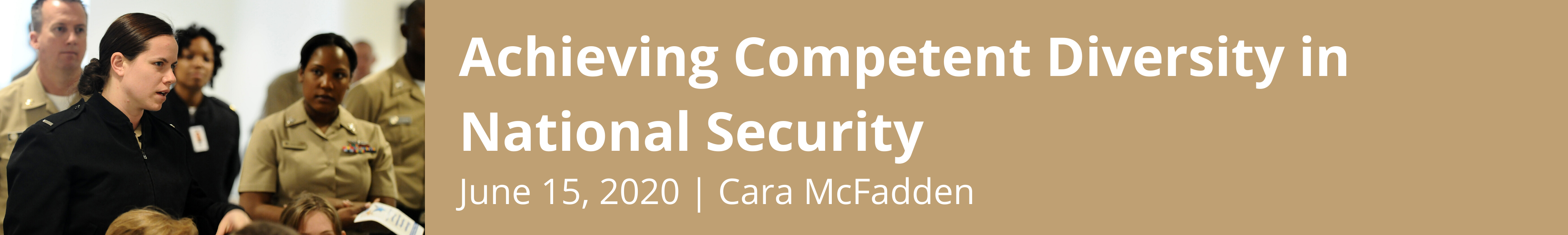 Achieving Competent Diversity in National Security