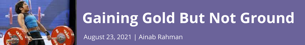 Gaining Gold But Not Ground