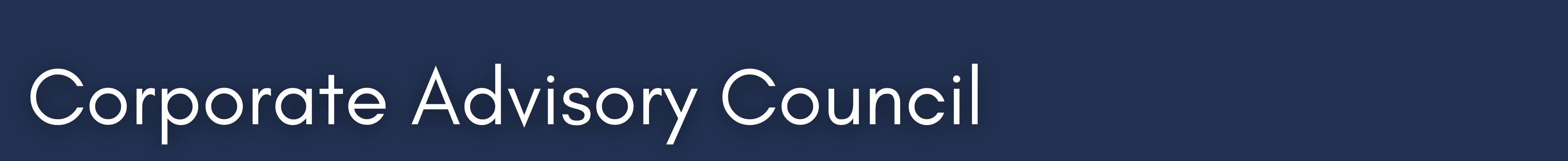 Corporate Advisory Council